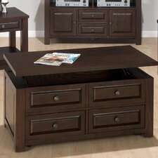 Mobile Coffee Table with Lift-Top Double Header