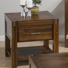 Rustic Loft End Table