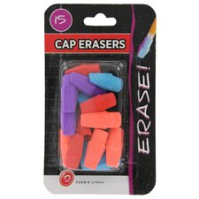 15 Count Eraser Caps (Set of 6)