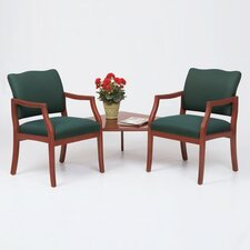 Franklin Two Chairs with Connecting Corner Table