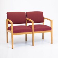 <strong>Lesro</strong> Lenox Two Seats with Wood Leg