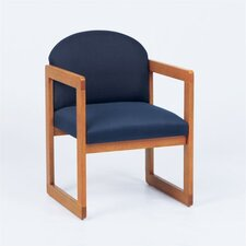 Classic Guest Chair With Armless Sled Base