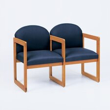 <strong>Lesro</strong> Classic Two Seats with Arm Sled Base