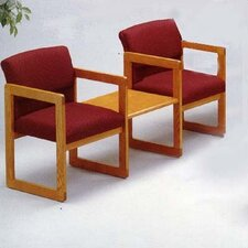 Classic Two Ergo Back Chairs with Center Table