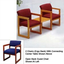 Classic Two Open Back Chairs with Center Table