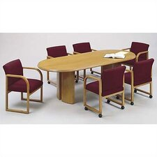 <strong>Lesro</strong> Contemporary Series  Oval Conference Table (Split Curved Panel Base)
