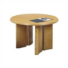 "<strong>Lesro</strong> Contemporary Series 42"" Round Gathering Table with Radius Profile (Split Curved Panel Base)"