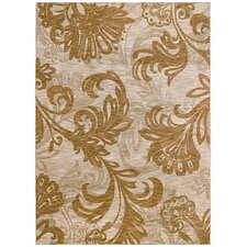 <strong>Tommy Bahama Rugs</strong> Home Nylon Bahama Beige Bloom Rug