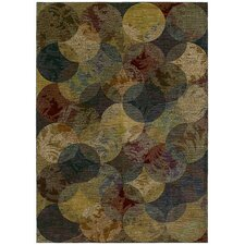 Home Nylon Calypso Night Multi-Colored Rug
