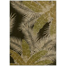 Home Nylon Dark Brown Carnival Palms Rug