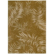<strong>Tommy Bahama Rugs</strong> Home Nylon Florist Greens Gold Rug