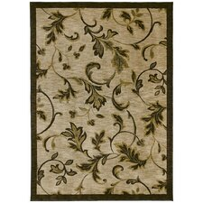 Home Nylon Garden Gate Beige Rug