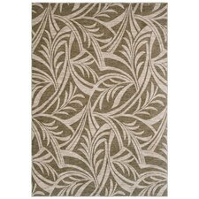 Home Nylon Abstracted Light Green Leaf Rug