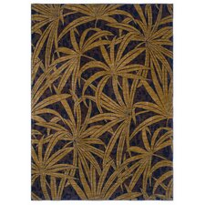 Tommy Bahama Tossed Palm Brown Novelty Rug