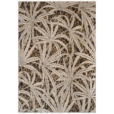 Tommy Bahama Tossed Palm Gold Novelty Rug