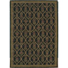 <strong>Tommy Bahama Rugs</strong> Home Nylon Lotsa Pineapples Black Novelty Rug
