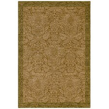 Home Nylon Gold Seaspray Damask Rug