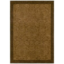 Home Nylon Spice Seaspray Damask Rug