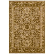 Home Nylon Gold Vintage Lei Rug