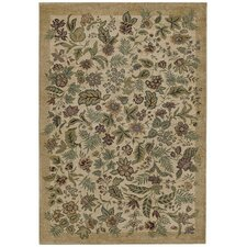 Home Olefin Garden Bloom Beige Novelty Rug