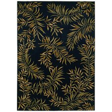 <strong>Tommy Bahama Rugs</strong> Home Nylon Onyx Leaves A Plenty Rug