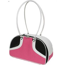 Roxy Pet Carrier in Hot Pink and White