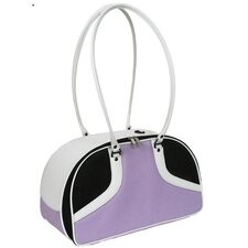 Roxy Pet Carrier in Lilac and White