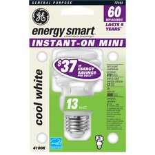 13W Spiral Compact Fluorescent Light Bulb