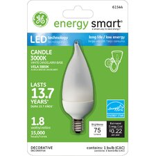 <strong>GE Lighting</strong> 1.8W Frost White Flame Tip Light Bulb