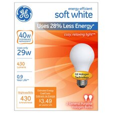 <strong>GE Lighting</strong> 29W Soft White Halogen Light Bulb