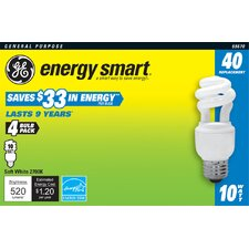 (2700K) Compact Fluorescent Light Bulb (Pack of 4)