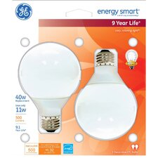 <strong>GE Lighting</strong> 11W Ballasted Globe Compact Fluorescent Light Bulb