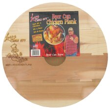 "13"" Round Larry The Cable Guy Cedar Beer Can Chicken Plank"