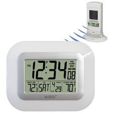 Atomic Digital Wall Clock with Solar Sensor