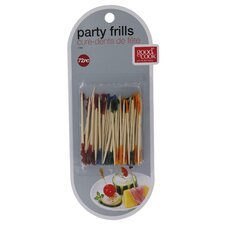 Frill Party Pick Hors D'ouevres Toothpicks (72 Pack)