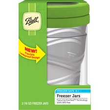16 Oz Freezer Jar (Set of 2)