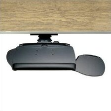 Keyboard Tray and Dual Mouse Advantage Platform with Single Adjustable Arm