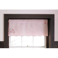 Pink Blossom Rod Pocket Scalloped Curtain Valance
