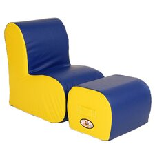<strong>Foamnasium</strong> Cloud Kids Chair and Ottoman Set