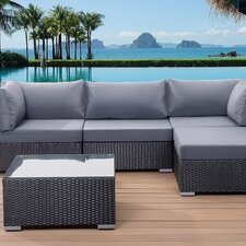 Sano Outdoor 5 Piece Lounge Seating Group with Cushion