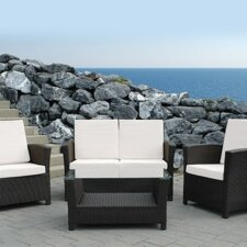 Rimini Outdoor 3 Piece Deep Seating Group with Cushion