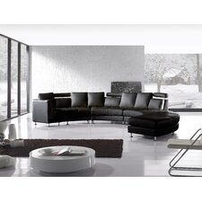 Rotunde 4 Piece Leather Circular Living Room Set