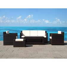 <strong>Beliani</strong> Roma 5 Piece Deep Seating Group with Cushion