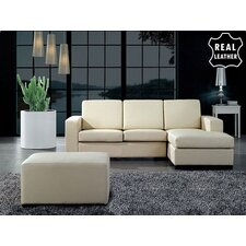 <strong>Beliani</strong> Malmo 3 Piece Leather Living Room Set