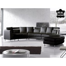 <strong>Beliani</strong> Rotunde 4 Piece Leather Circular Living Room Set