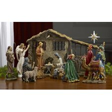 16 Piece Real Life Nativity