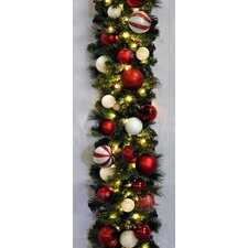 9' Pre-Lit Sequoia Decorated Garland