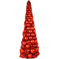 3' Red Ornament Tree