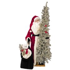 Retro Santa Claus Figurine