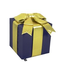 Square Polyester Fabric Giant Gift Box with Bow